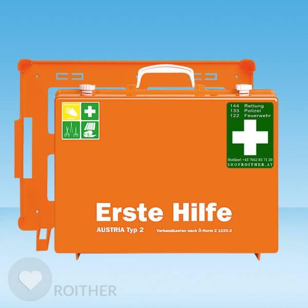 Erste Hilfe Koffer Austria Typ 2 | Haltbarkeit 20 Jahre