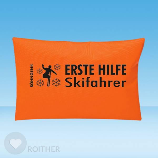 Erste Hilfe Skifahrer orange