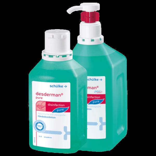 Desderman Pure Händedesinfektion 1000ml Flaschen mit integrierter Pumpe (hyclick)