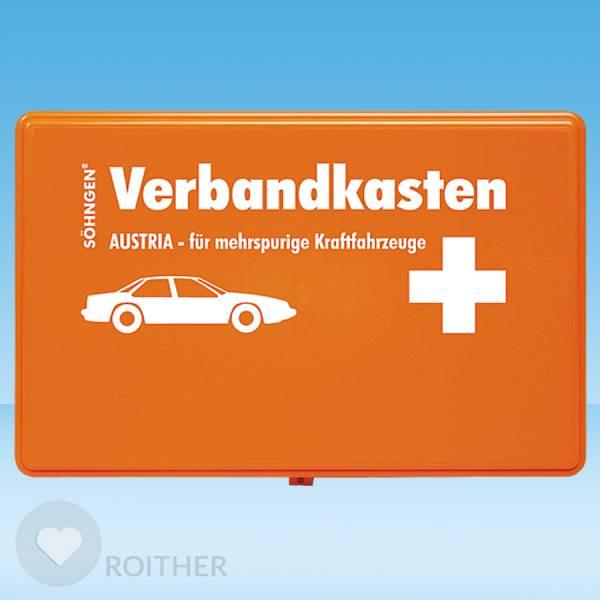 Verbandkasten Austria für mehrspurige Kraftfahrzeuge orange