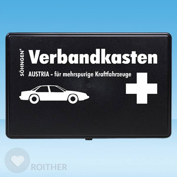 Verbandkasten Austria für mehrspurige Kraftfahrzeuge schwarz