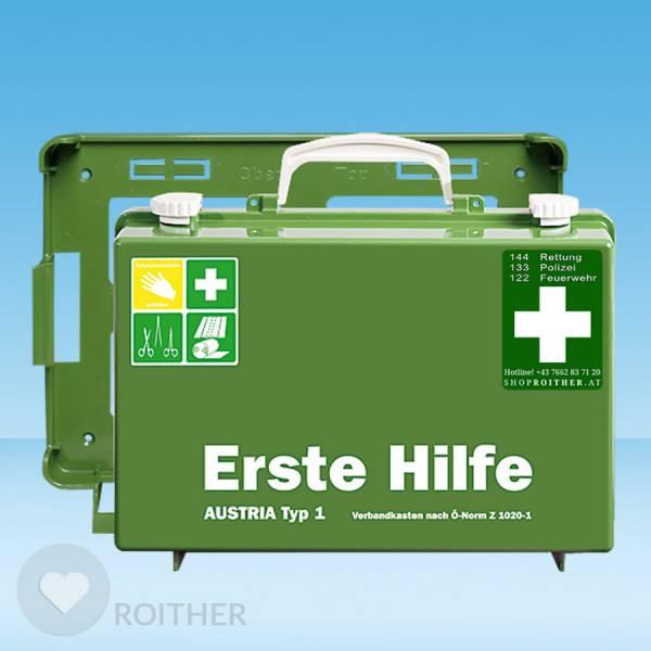 Erste Hilfe Koffer Austria Typ 1 grün
