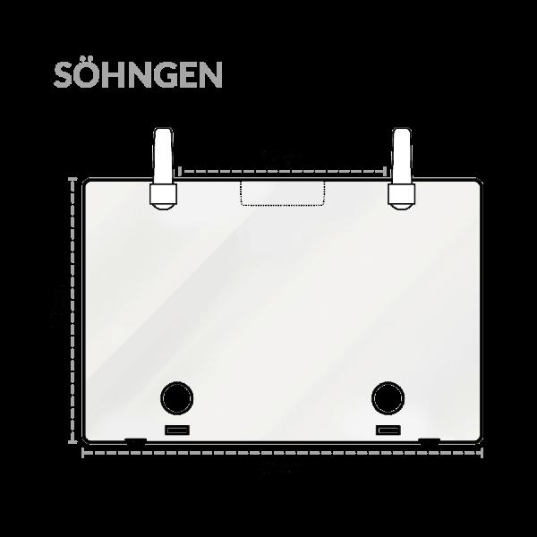 Abdeckplatte SN für Koffer Typ 1