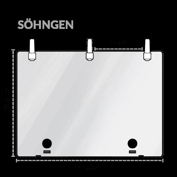 Abdeckplatte MT für Koffer Typ 2