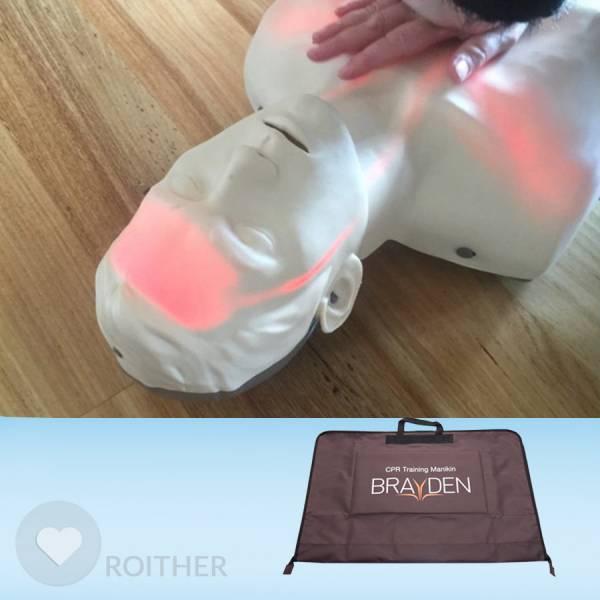 Brayden Übungspuppe LED ROT inkl. Tasche