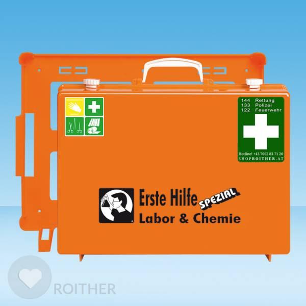 Erste Hilfe Koffer Labor & Chemie